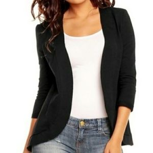 Nommo   NWT Open Cardi Black 3/4 sleeves XS